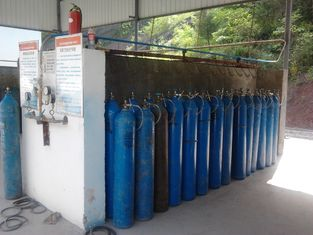 China High Purity Industrial Oxygen Nitrogen Gas Plant 240 Cylinders , Max Pressure 20Mpa supplier